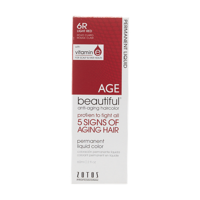 AGEbeautiful Anti-Aging Permanent Liquid Haircolor with Vitamin E 6R Light Red