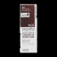 AGEbeautiful Anti-Aging Permanent Liquid Haircolor with Vitamin E 4A Dark Ash Brown