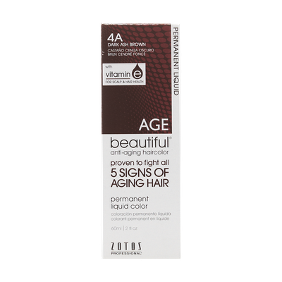 AGEbeautiful Anti-Aging Permanent Liquid Haircolor with Vitamin E 4A Dark Ash Brown