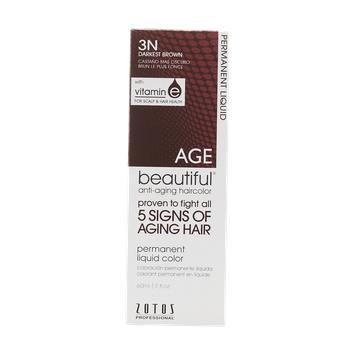 AGEbeautiful Anti-Aging Permanent Liquid Haircolor with Vitamin E 3N Darkest Brown