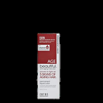 AGEbeautiful Anti-Aging Permanent Liquid Haircolor with Vitamin E HLA High Lift Ash Blonde 5RB Medium Rasberry Brown
