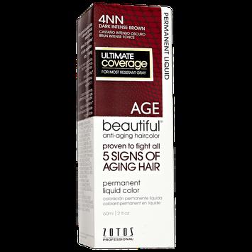 AGEbeautiful Anti-Aging Permanent Liquid Haircolor with Vitamin E 4NN Dark Intense Brown