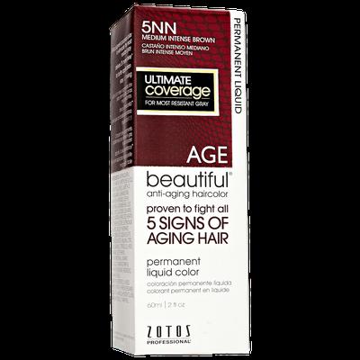 AGEbeautiful Anti-Aging Permanent Liquid Haircolor with Vitamin E 5NN Medium Intense Brown