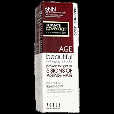 AGEbeautiful Anti-Aging Permanent Liquid Haircolor with Vitamin E 6NN Light Intense Brown