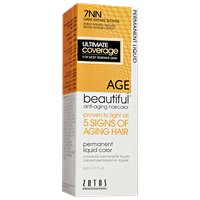 AGEbeautiful Anti-Aging Permanent Liquid Haircolor with Vitamin E 7NN Dark Intense Blonde