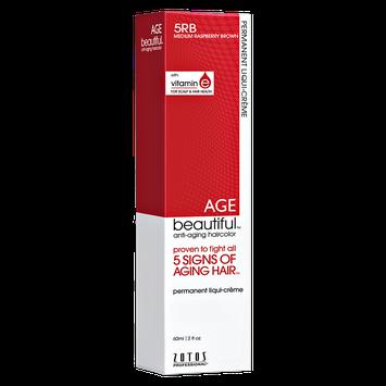 AGEbeautiful Anti-Aging Demi Permanent Liqui-Creme Haircolor 5RB Medium Rasberry Brown