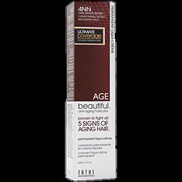 AGEbeautiful Anti-Aging Permanent Liqui-creme Haircolor with Vitamin E 4NN Dark Intense Brown