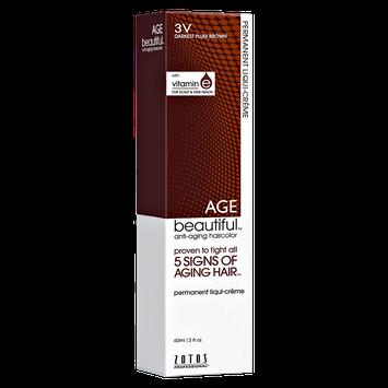 Zotos AGEbeautiful Anti-Aging Permanent Liqui-Creme Haircolor 3V Darkest Plum Brown