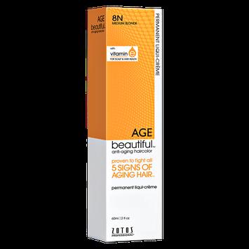 Zotos AGEbeautiful Anti-aging Permanent Liqui-creme Haircolor 8N Medium Blonde
