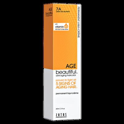 Zotos AGEbeautiful Anti-aging Permanent Liqui-creme Haircolor 7A Dark Ash Blonde