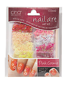 Cina Nail Decals Pink Cosmo Dazzles