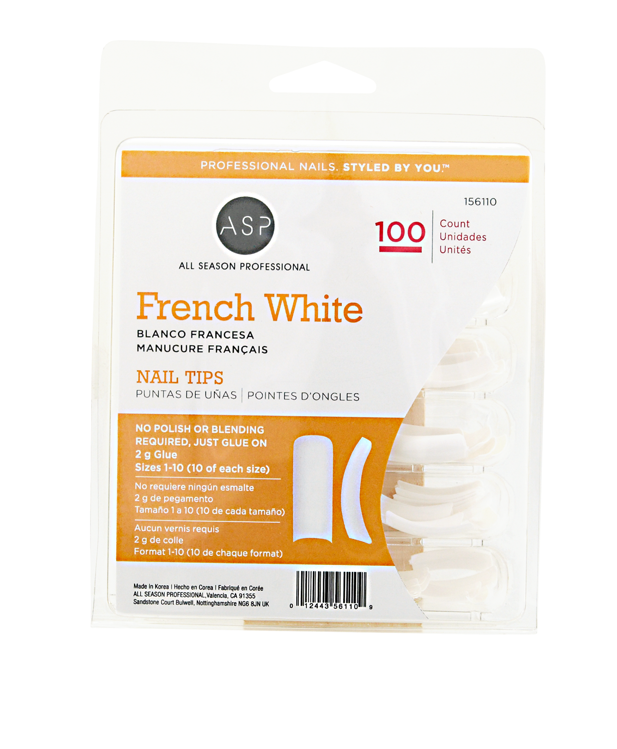ASP French White Tips 100ct.