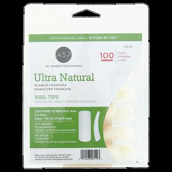 ASP Ultra Natural Nail Tips 100ct.