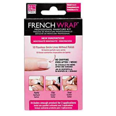 Nail Bliss Thick White French Wrap Manicure Kit