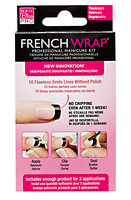 Nail Bliss Thick Black French Wrap Manicure Kit