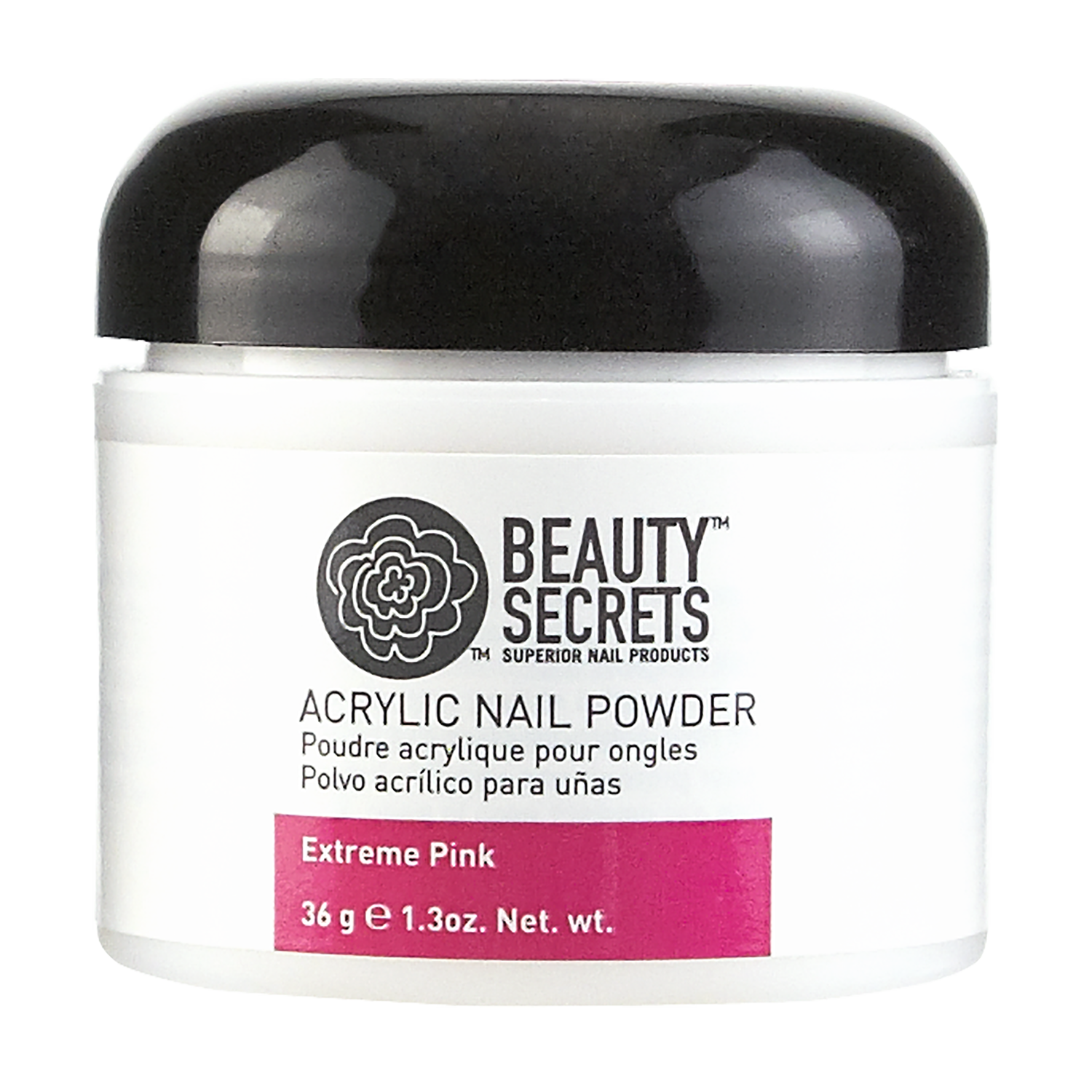 Beauty Secrets Extreme Pink Acrylic Nail Powder