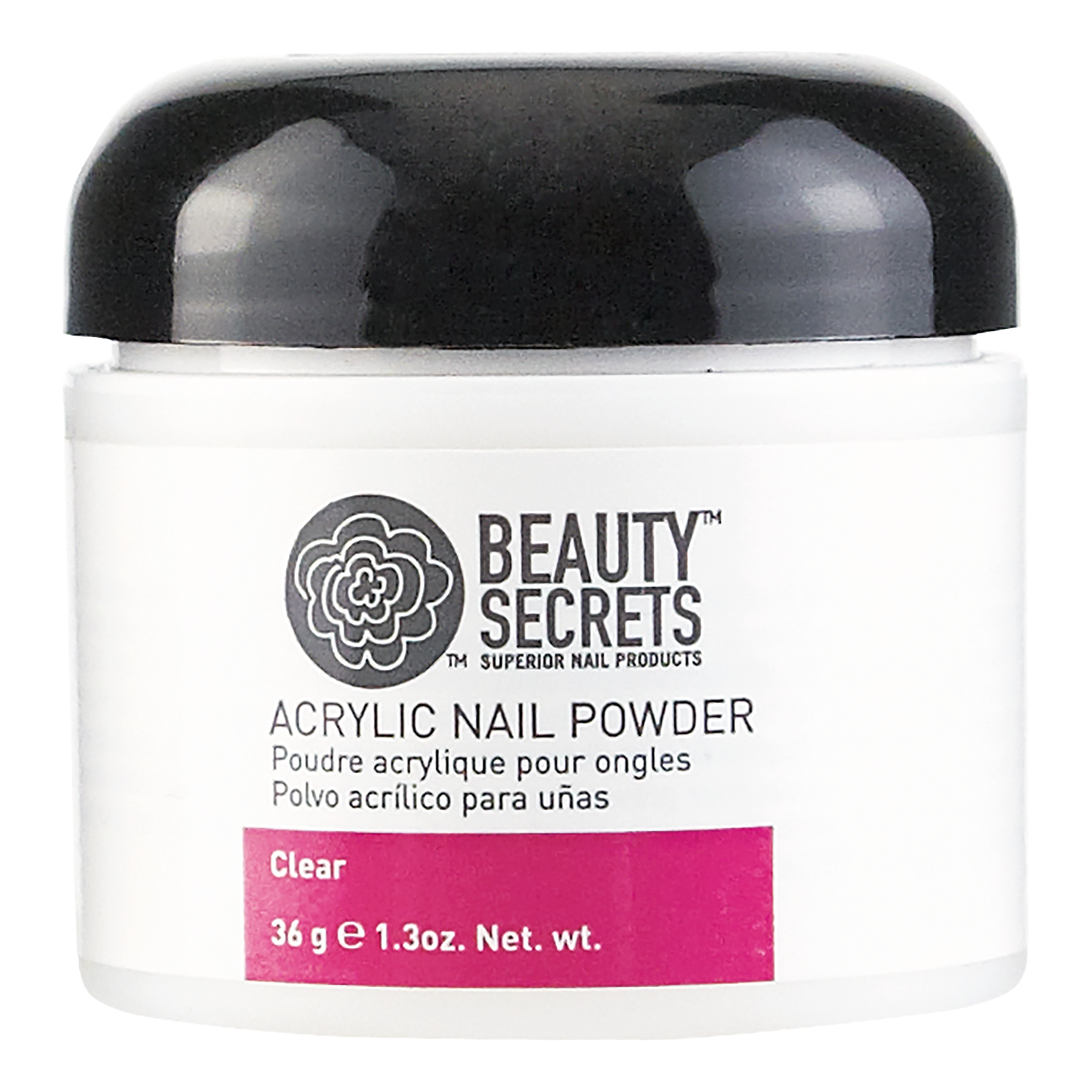 Beauty Secrets Clear Acrylic Nail Powder