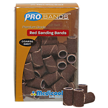 Medicool Pro Coarse Grit Red Sanding Bands
