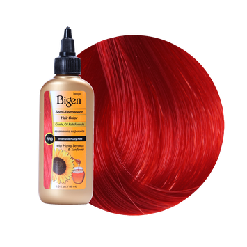 Bigen Semi Permanent Hair Color Intensive Ruby Red