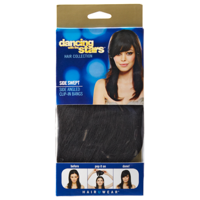 Dancing with the Stars Side Swept Bang Ebony