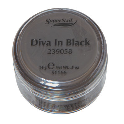 SuperNail Acrylic Powder Diva in Black