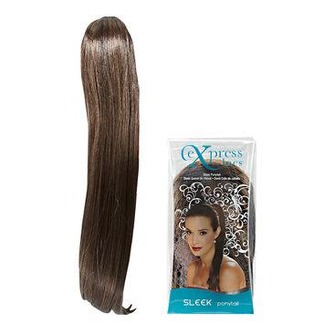 ExpressLocs Ponytail Clip-in Sleek Hairpiece Medium Brown