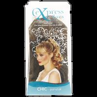 Design Lengths ExpressLocs Ponytail Clip-in Chic Hairpiece Dark Brown