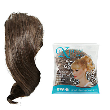 ExpressLocs Ponytail Clip-in Swank Hairpiece Medium Brown