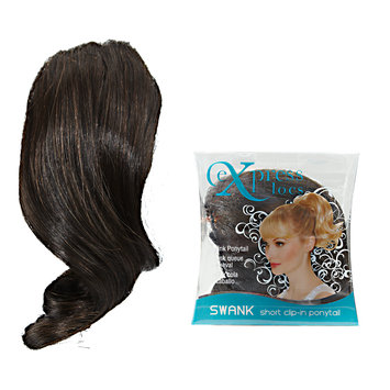 ExpressLocs Ponytail Clip-in Swank Hairpiece Dark Brown
