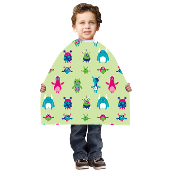 Betty Dain Kid's Yellow Silly Birds Styling Cape