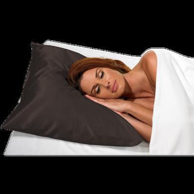 Betty Dain Black Satin Pillow Case #121
