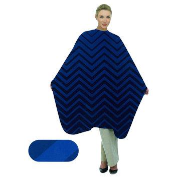Betty Dain Blue Chevron Styling Cape