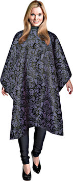 Andre #610 Styling Cape Damask Print Black