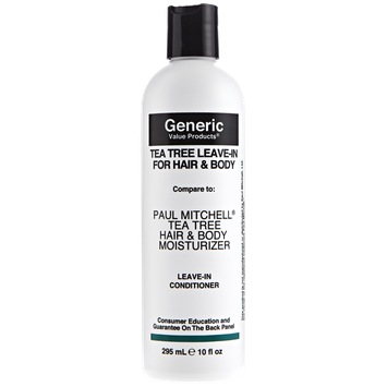 Generic Value Products Tea Tree Leave-In For Hair and Body compared to Paul Mitchell Tea Tree Hair and Body Moisturizer