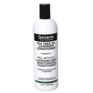 Generic Value Products Tea Tree Oil Lavender Conditioner compare to Paul Mitchell Lavender Mint Moisturizing Conditioner