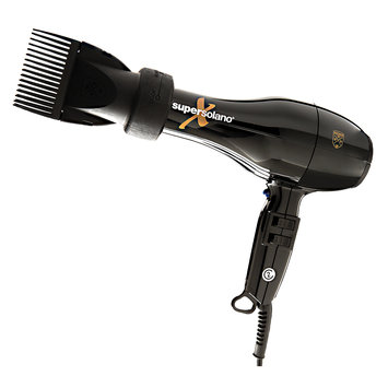 Salon Creations Super Solano Extreme Hair Dryer 232X with 2 in 1 Attachment Black