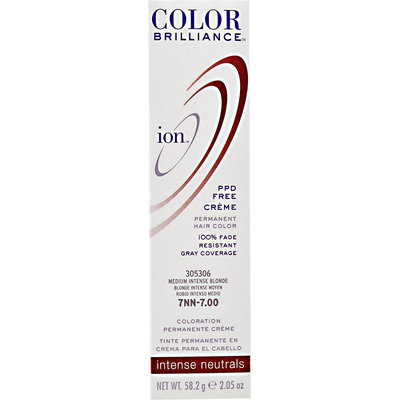 Ion Color Brilliance Permanent Creme Intense Neutrals 7NN Medium Intense Blonde