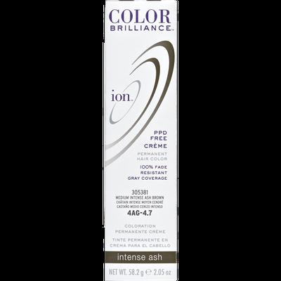 Ion Color Brilliance Permanent Creme Hair Color 4AG Medium Intense Ash Brown