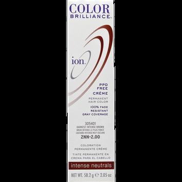 Ion Color Brilliance Permanent Creme Intense Neutrals 2NN Darkest Intense Brown