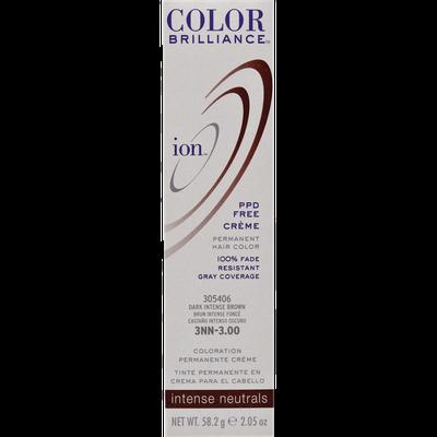 Ion Color Brilliance Permanent Creme Intense Neutrals 3NN Dark Intense Brown