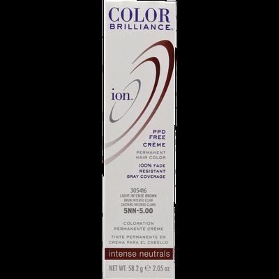Ion Color Brilliance Permanent Creme Intense Neutrals 5NN Light Intense Brown
