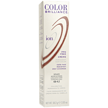 Ion Permanent Creme Hair Color 4A Medium Ash Brown
