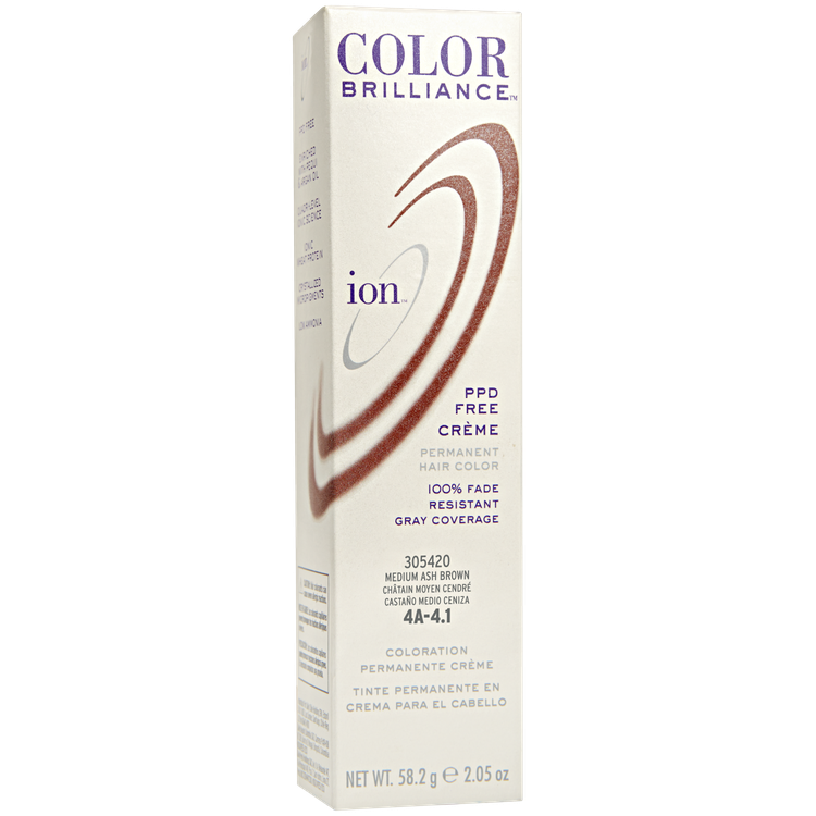 Ion Permanent Creme Hair Color 4a Medium Ash Brown Reviews