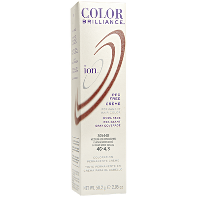Ion Permanent Creme Hair Color 4G Medium Golden Brown