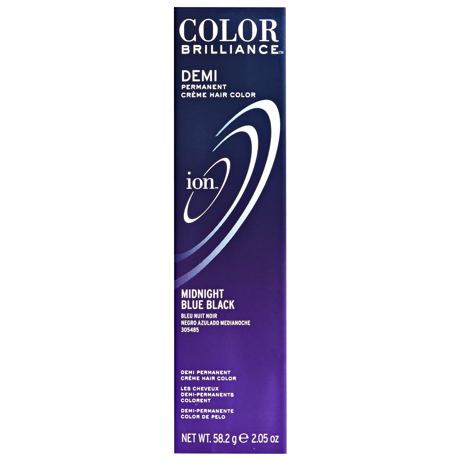 Ion Color Brilliance Master Colorist Series Demi Permanent Creme Hair Color Midnight Blue Black
