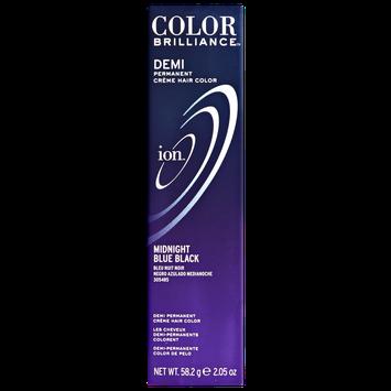 Ion Color Brilliance Master Colorist Series Demi Permanent Creme Hair Color Midnight Blue Black