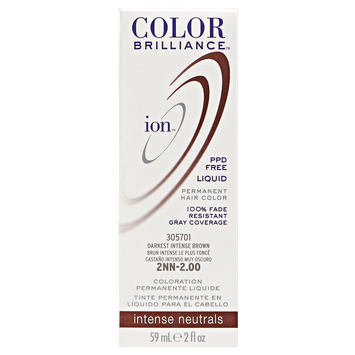 Ion Color Brilliance Permanent Liquid Hair Color 2NN Darkest Intense Brown