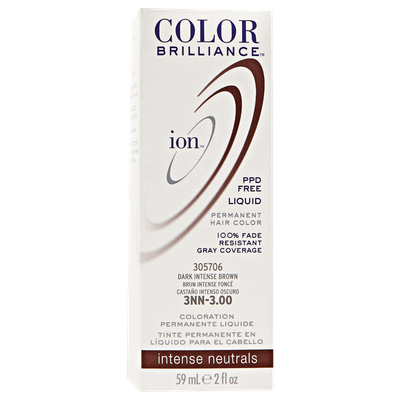Ion Color Brilliance Permanent Liquid Hair Color 3NN Dark Intense Brown