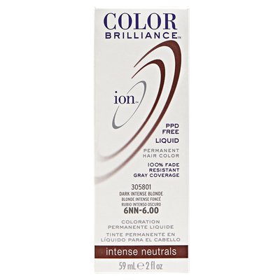 Ion Color Brilliance Permanent Liquid Hair Color 6NN Dark Intense Blonde