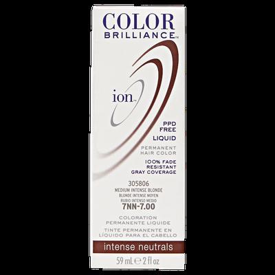 Ion Color Brilliance Permanent Liquid Hair Color 7NN Medium Intense Blonde